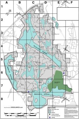 Mountain Bike Map of Lynn Woods